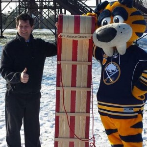 Mark with Sabretooth at Chestnut Ridge Park.