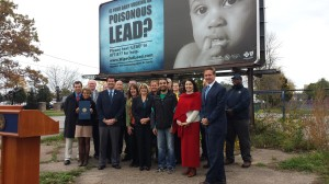 Announcing a new Lead Prevention Program with Congressman Brian Higgins, Health Department staff and community leaders on Oct. 20, 2014