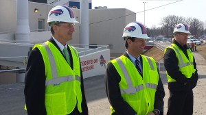 Touring Ralph Wilson Stadium Renovations with former Lt. Gov. Robert Duffy.
